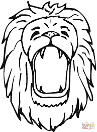 Small Picture Free Coloring Pages Printables Lion Head Drawing Lions And