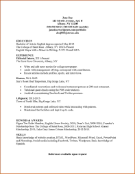 Resume Writing For Engineering Students 017 Janedoeresume2 For An Sample Hr With No Experience Clerk