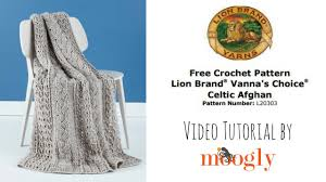 Lion Brand Free Crochet Patterns Classy How To Crochet Lion Brand Celtic Afghan YouTube