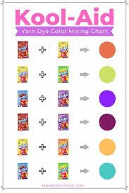 Kool Aid Hair Dye Color Chart Lajoshrich Com