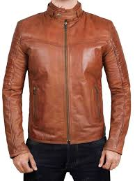 Light Brown Leather Jacket Mens Edinburgh Brown Leather Jacket
