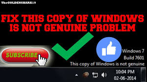 Solution For This Copy Of Windows Is Not Genuine Youtube