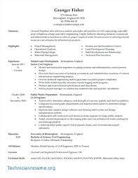 Civil Engineering Resume Examples Civil Engineering Resume Example
