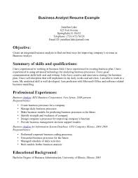 template of resume examples business large size - Examples Of Business  Analysis