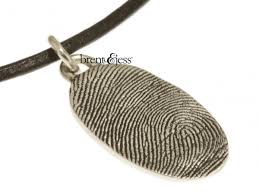 custom memorial sterling silver oval fingerprint pendant custom handmade fingerprint jewelry by b jess
