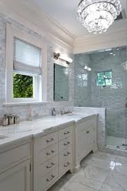 carrara marble bathroom subway tile contemporary with lighting chandelier crown image by studio architecture countertop