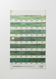 Renfe Green Pantone Color Chart High Speed Rail Pantone