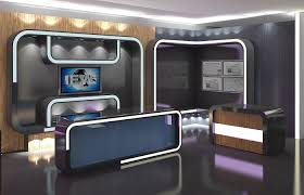 tv studio furniture. Virtual Tv Studio News Set 16 3d Model Max Obj 3ds Fbx C4d Dxf 8 Furniture