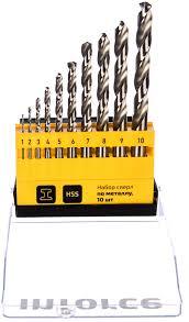 <b>Набор сверл</b> по металлу HSS (10 шт; <b>1-10</b> мм; шаг 1 мм) Inforce ...