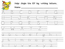 alphabet practice paper christmas alphabet handwriting practice for kindergarten or 1st grade