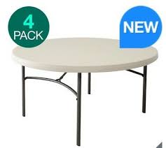 lifetime 60 5ft round commercial table perfect for party pack