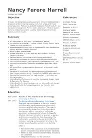High School Teaching Resume Examples 10 Msdoti69
