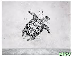 turtle and bubbles wall decal turtle