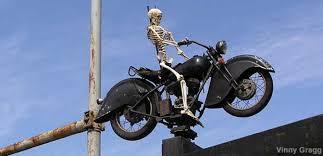 Chicago, IL - Ghost Rider - <b>Skeleton</b> on <b>Motorcycle</b>