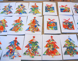 Homemade Christmas Cards  Potato Print Finger Print And Googly EyesChristmas Card Craft For Children