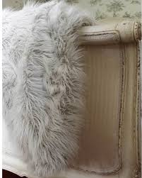 white faux fur throw. Perfect Faux Ice Queen Grey White Faux Fur Throw Image 4 To