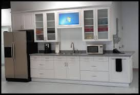 ... Wonderful Kitchen Cabinet Door Glass in Clean Kitchen Shade :  Refrigerator White Kitchen Interior Design Kitchen ...