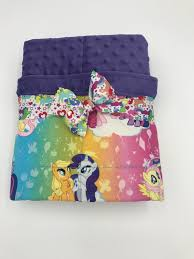 my little pony weighted blanket child weighted blanket s birthday gift anxiety in kids autism blanket cotton and minky poly pellet
