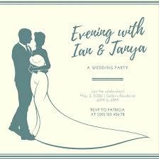 Cream Green Elegant Wedding Reception Invitation Templates By Canva