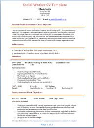 Social Worker Resume Template Templates Entry Level Simple