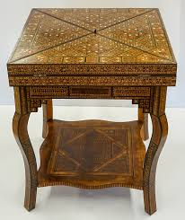 old anglo indian inlaid game table