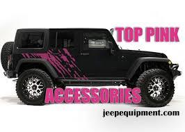 top pink jeep wrangler accessories