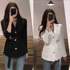 Women Blazers and <b>Jackets</b> New <b>Korean Suit Jacket</b> Casual Linen ...