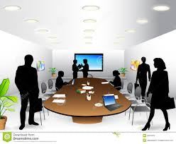 meeting free business meeting room stock vector illustration of table 2657979