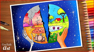 Save Environment Save Earth Poster Chart Drawing For School