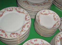 Rose Pattern China Magnificent 48 Pc Vintage Thun China Bridal Rose Bohemia Czechoslovakia Service