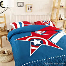 Marvel Avengers 100% Cotton Classical Captain America Bedding Set Cheap  Kids Bedding Bedding Sale Twin Full Queeen King