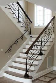 Tree branches railing - tree shaped creative staircase stairs railing ~  Creative & Artistic Interior Home