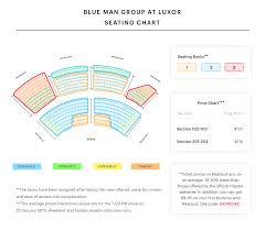 luxor hotel theatre seating chart