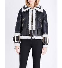 women jackets beautiful burberry cheshire leather biker jacket black ecru women burberry