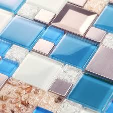 blue glass mosaic tiles le glass tile kitchen wall tv wall backsplash mosaic tile resin s