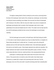 dante s inferno essay final essay italian w final essay 6 pages dante s inferno landscape short essay