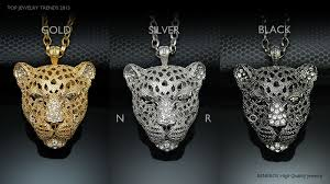 panther head pendant chain necklace gold silver mens faishon animal jewelry leopard
