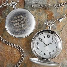 personalized silver pocket watch with engraved monogram 1157