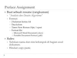 PPT Design And A N Alysis Of Algorithm Preface PowerPoint Awesome Resume Preface