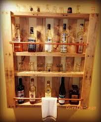 old pallet shelves for drink storage