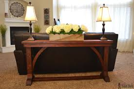diy sofa table. Free DIY Plans To Build A Stylish Narrow Sofa Table For About $30. Diy E