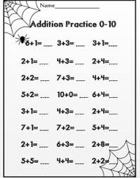 Grade 4 Halloween Worksheet - Cloze the Gap Challenge | Halloween ...Halloween addition to 10...common core aligned for first grade