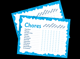 Chore Carts Printables Chore Chart For Kids Fellowes