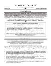 Sales Manager Resume Samples By Martin B Corcoran Perfect Career