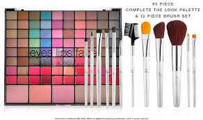 e l f cosmetics 85 piece plete the look palette 12 piece brush set 52 value only 3 with 25 purchase