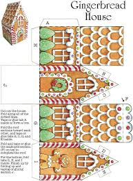 Gingerbread House Template Easy Christmas Crafts
