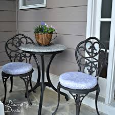 how to make round bistro chair cushions plumdoodles com