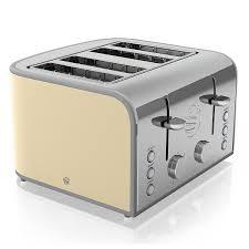 Retro Toasters swan 4slice toaster 1600 w cream amazoncouk kitchen & home 5304 by uwakikaiketsu.us