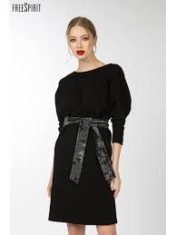 <b>Платье Летучая мышь</b> черное женское 1938001 купить в ...
