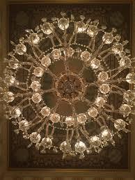 chandelier inside the hotel monteleone